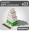Isometric city constructor - 03 vector image vector image