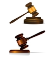 Judge or auctioneers gavel on white vector image vector image