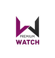 logo for brand premium watch vector image