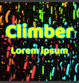 logo for shirts climber abstract background vector image