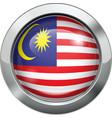 Malaysian flag metal button vector image vector image