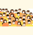 masked people crowds virus protection vector image vector image