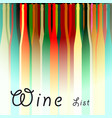 menu card wine vector image