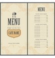 Menu for the restaurant in vector image vector image