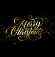 merry christmas greeting card golden festive vector image vector image
