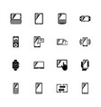 mobile devices - flat icons vector image