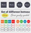 music sign icon Karaoke symbol Big set of colorful vector image vector image