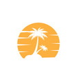 palm tree icon design template isolated vector image vector image