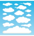 Pattern of white clouds isolated on blue sky vector image vector image