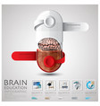 Pill Capsule Brain Education And Learning vector image