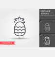 pineapple line icon with editable stroke vector image vector image