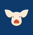 pink pig in flat style a symbol 2019 vector image vector image
