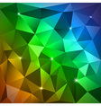 Rainbow Triangles vector image vector image