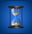 realistic detailed 3d hourglass with sand inside vector image vector image