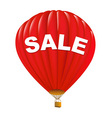Red Sale Hot Air Balloons vector image