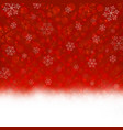 red snowflakes of winter christmas background vector image