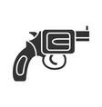 revolver glyph icon vector image