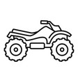 ride quad bike icon outline style vector image vector image
