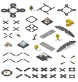 Road Map Kit isometric vector image vector image