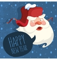 Santa Claus With A Russian Ear Hat Happy New Year vector image vector image