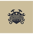 Service auto repair coat of arms shield wrench vector image vector image
