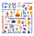 set education and science disciplines vector image vector image