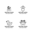 set of logo design templates in linear style vector image