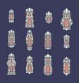 set ramadan kareem lights vector image