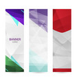 set vertical bright banners with empty place for vector image vector image