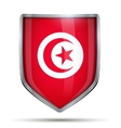 Shield with flag Tunisia vector image