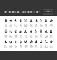 simple icons international children day vector image vector image