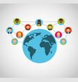 social media network icons vector image vector image