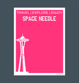 space needle seattle washington monument landmark vector image