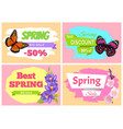 spring big sale best discount preomo price off set vector image vector image