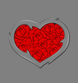 stylized image of the heart vector image vector image