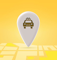 Taxi pin over map vector image vector image