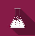 test tube and flask - chemical laboratory test vector image vector image
