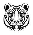 tiger tattoo animal design vector image vector image