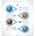 Timeline Infographics layout template for item or vector image vector image