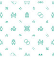 together icons pattern seamless white background vector image vector image