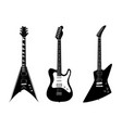 verious electric guitars black vector image vector image