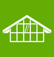 warehouse icon green vector image