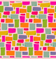 warm colors pattern with hand drawn rectangles vector image