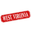 west virginia red square grunge retro style sign vector image vector image