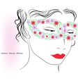woman in colorful mask vector image vector image