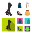 women high boots coats on buttons stockings with vector image vector image