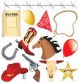 cowboy birthday party clip art vector image