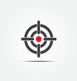 Symbol of crosshair vector image