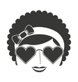 afro woman isolated icon design vector image