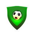 Ball on green shield vector image